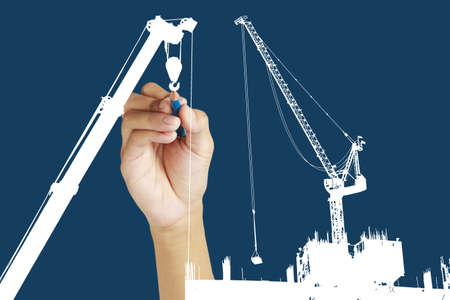 drawing construction site Stock Photo - 14474795