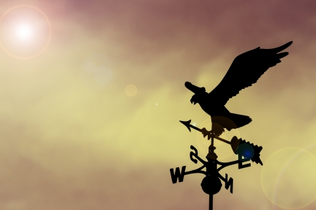 Eagle weather vane in a beautiful sky photo