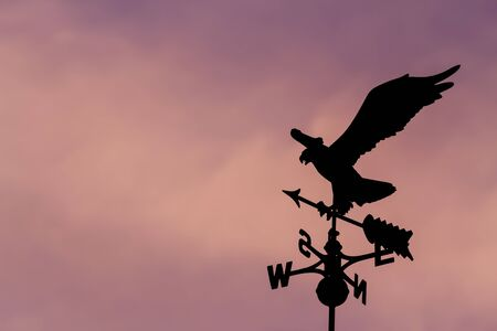 Eagle weather vane in a beautiful sky photo