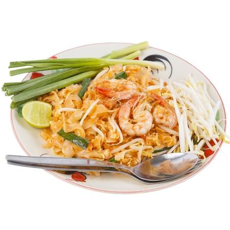 Thai food style , stir-fried rice noodles (Pad Thai) photo
