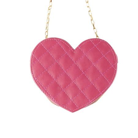 Pink handbag heart shape