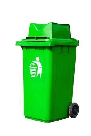 green recycling bin Stock Photo - 16754756
