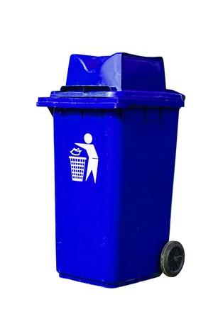 blue recycling bin Stock Photo - 16754791