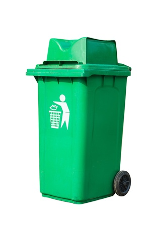 verde reciclado bin photo