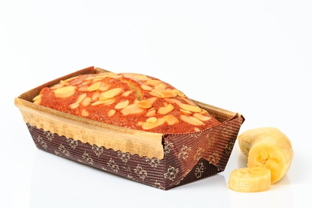 Freshly baked banana bread