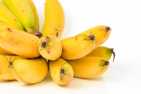 Banana bunch group on white background. photo