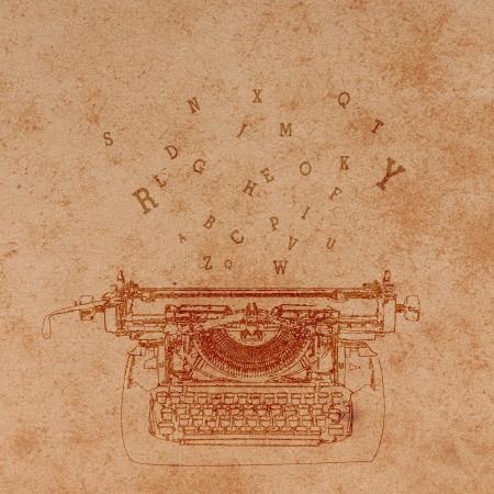 タイプライター Pattern.Vintage の背景を持つ古い紙。