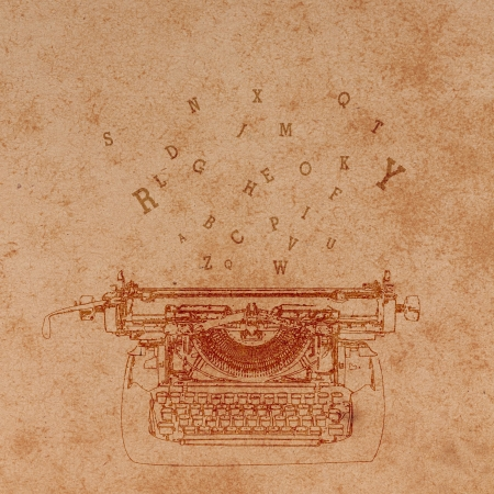 writing letter: Old paper with Typewriter Pattern.Vintage background.