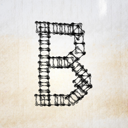 Dirty Metal alphabet letter photo