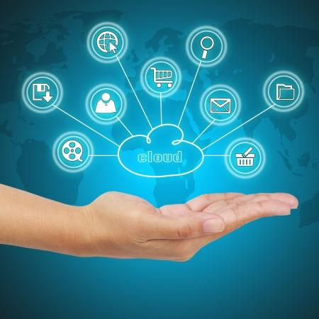 business model: Zakelijke kant blijkt cloud computing. Concept van business model