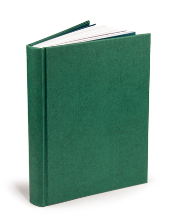 green hardcover book with clipping path Фото со стока