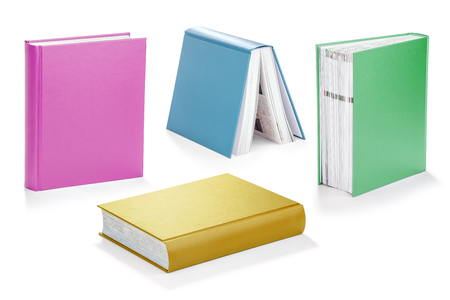 hard covered books with clipping path