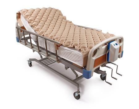 lit d'hôpital propre avec matelas pneumatique - chemin de détourage