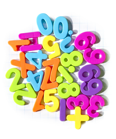 plastic magnet numbers and maths symbols