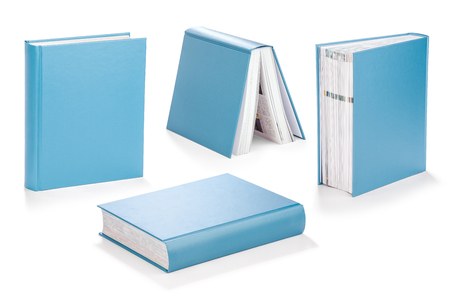 hard covered book with clipping path