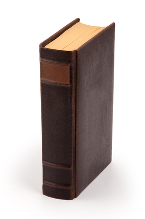 old hardcover book with clipping path