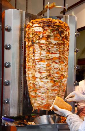 big donner kebab with vegetables