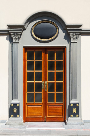 old ottoman door with tugra place