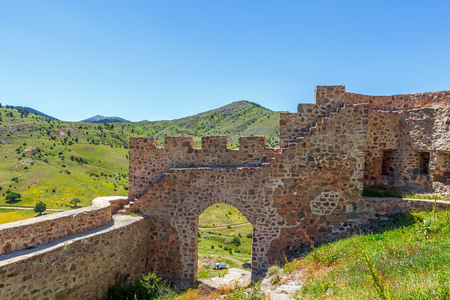 Kov castle is located in the village of G?m??hane - Turkey. In 1361, it is rumored that by III. Alexios, the castle is built at 130 meters. The altitude is 1760 meters. Its an ancient city around. Reklamní fotografie