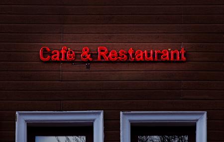 Cafe & Restaurant Neon zingen op hout