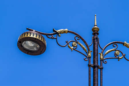 vintage street lights in Istanbul city
