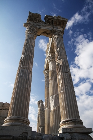 Photograph of the Temple of Trajan located in Turkey  photo