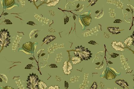 fleur transparente avec motif de feuilles Banque d'images