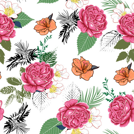 tropical flower 矢量图像