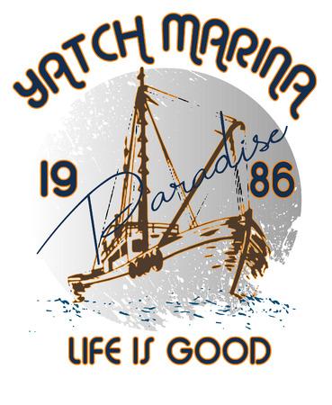 Yatch Marina Illustration