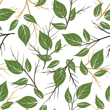 Seamless palm leaves pattern Illustration