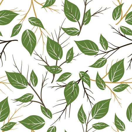 Seamless palm leaves pattern Illustration