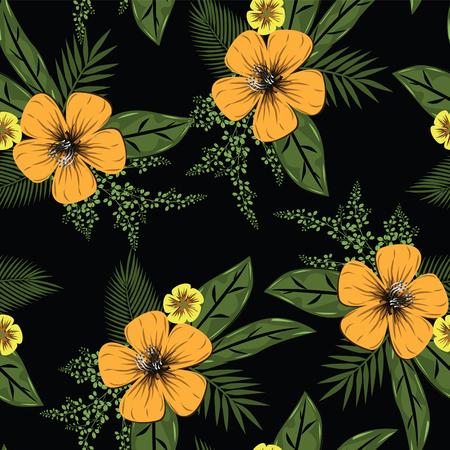 Diseño de patrón de flores sin fisuras