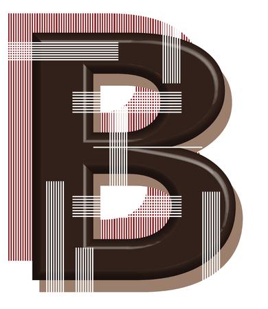 Letter B from blank 3D design