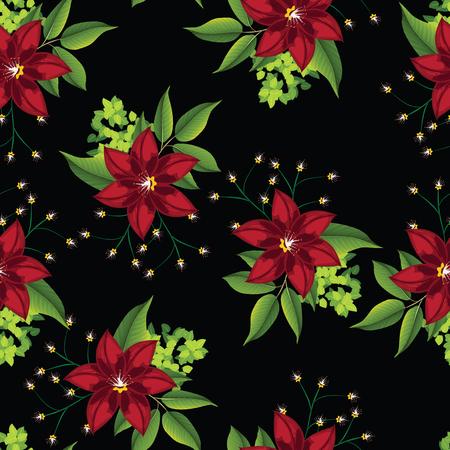 seamless pattern flower Stock Photo