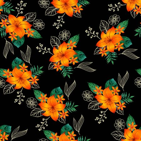 Seamless pattern flower Banque d'images