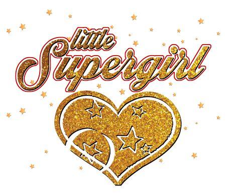 Trendy fashion print for textile little supergirl design pattern Stock Photo