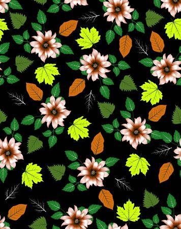 seamless pattern of flora plant Zdjęcie Seryjne