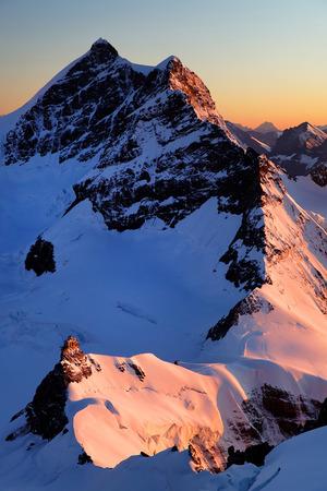 Jungfrau Peak  4158m , Switzerland Stock Photo