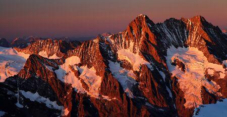 monch: Schreckhorn Peak  4078m , Berner Oberland, Switzerland