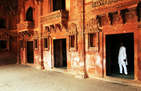 fatehpur: Fatehpur Sikri India built by the great Mughal emperor Akbar beginning in 1570 Stock Photo