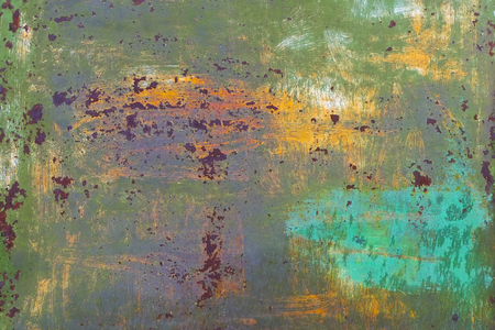 kwaśne deszcze: Rust on the metal surface of the green