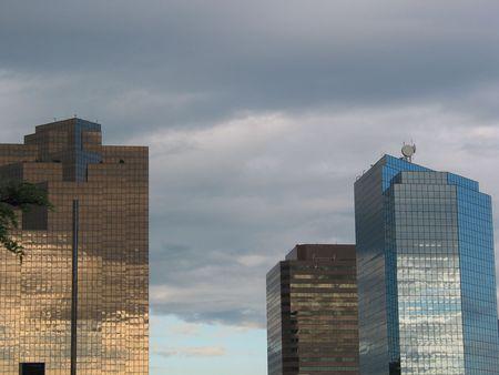 bellevue: Downtown Bellevue Sky Stock Photo