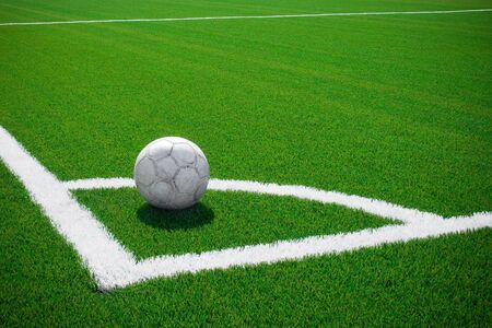 The ball is prepared for corner kick Stock Photo - 3512009