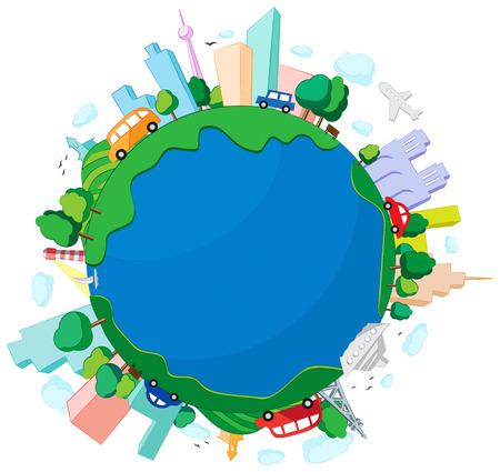 developed: Ilustraci�n del vector del peque�o planeta desarrollado.