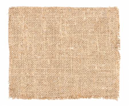 burlap: Background in the form of a piece of a rough fabric Stock Photo