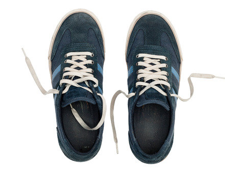 plimsoll: Shoes isolated on a white background with path