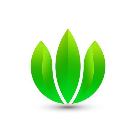 Abstract Gradient Letter W Leaf Logo Design Template Premium Vector
