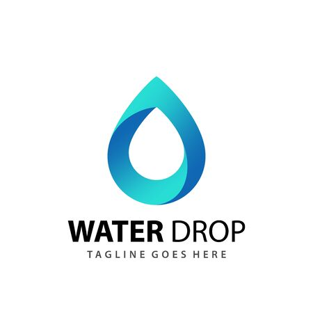 Water Drop Company Modern Logo Design 3D Template Premium Illustration
