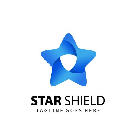 Abstract Star Shield Logo Design Template Vector Premium