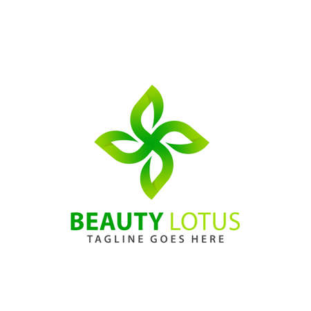 Abstract Beauty Lotus Leaf Logos Design Vector Illustration Template Stock Premium